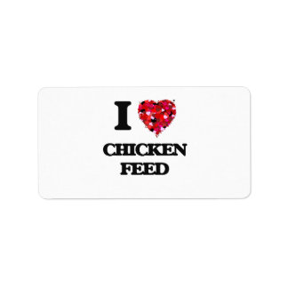 I love Chicken Feed Address Label