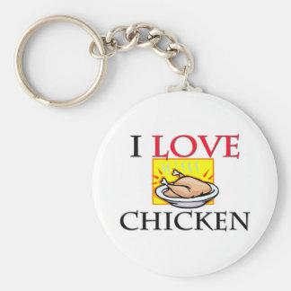 I Love Chicken Keychain