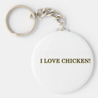 I Love Chicken! Keychain