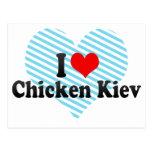 I Love Chicken Kiev Postcard