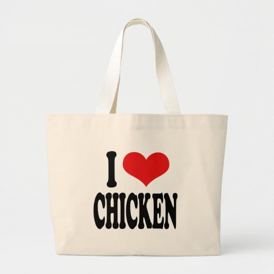 I Love Chicken Large Tote Bag