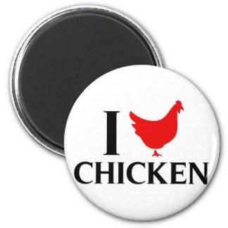 I Love Chicken Refrigerator Magnet