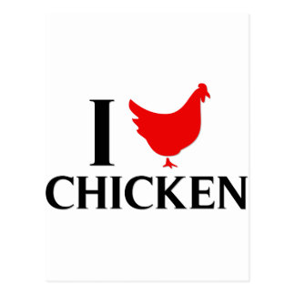 I Love Chicken Postcard
