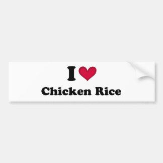 I love chicken rice bumper sticker