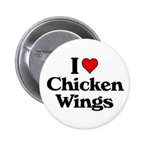 I love chicken wings 2 inch round button