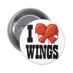 I Love Chicken Wings 2 Inch Round Button