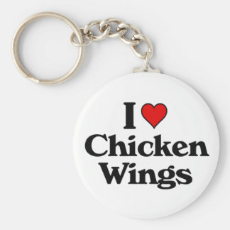 I love chicken wings keychain
