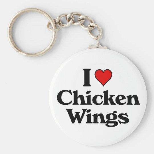 I love chicken wings keychain