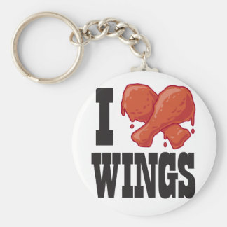 I Love Chicken Wings Keychains