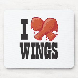 I Love Chicken Wings Mouse Pad