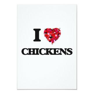 I love Chickens 3.5x5 Paper Invitation Card