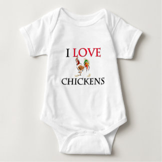 I Love Chickens Baby Bodysuit