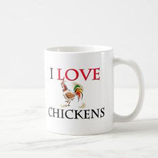 I Love Chickens Classic White Coffee Mug