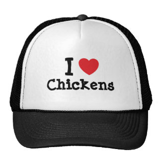 I love Chickens heart custom personalized Trucker Hat
