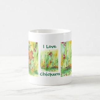 I Love Chickens Hen Rooster Chicks Tea Mug