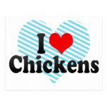 I Love Chickens Post Cards