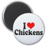 I Love Chickens Refrigerator Magnets