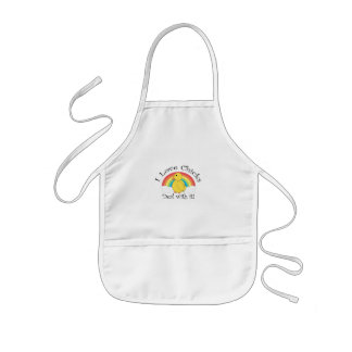 I love chicks deal with it kids' apron