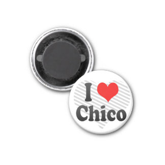 I Love Chico, United States Fridge Magnet