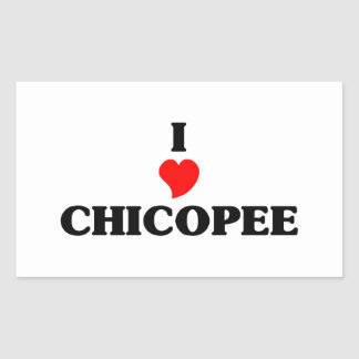 I love Chicopee Rectangular Sticker