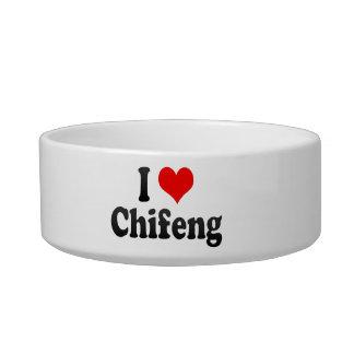 I Love Chifeng, China Cat Water Bowl