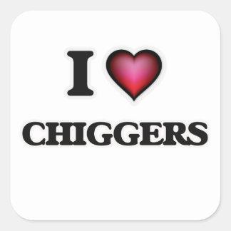 I Love Chiggers Square Sticker