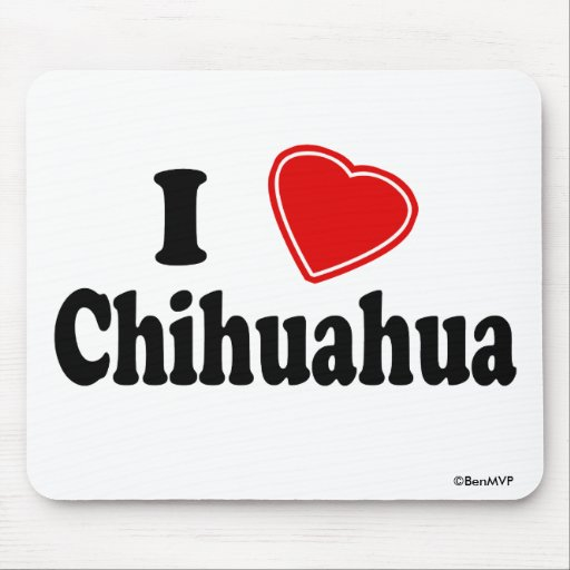 I Love Chihuahua Mousepad