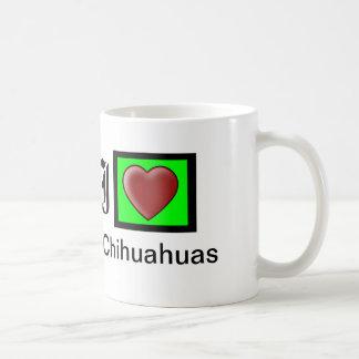"""I Love Chihuahuas Customizable Coffee Mug"" Classic White Coffee Mug"