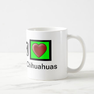 """I Love Chihuahuas Customizable Coffee Mug"" Coffee Mug"