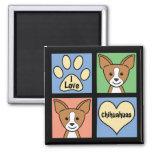I Love Chihuahuas Magnets
