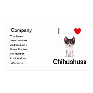I Love Chihuahuas (picture) Double-Sided Standard Business Cards (Pack Of 100)