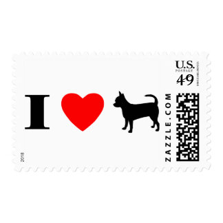 I Love Chihuahuas Postage Stamps