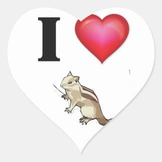 I love chikmunks heart sticker