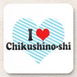 I Love Chikushino-shi, Japan Beverage Coasters