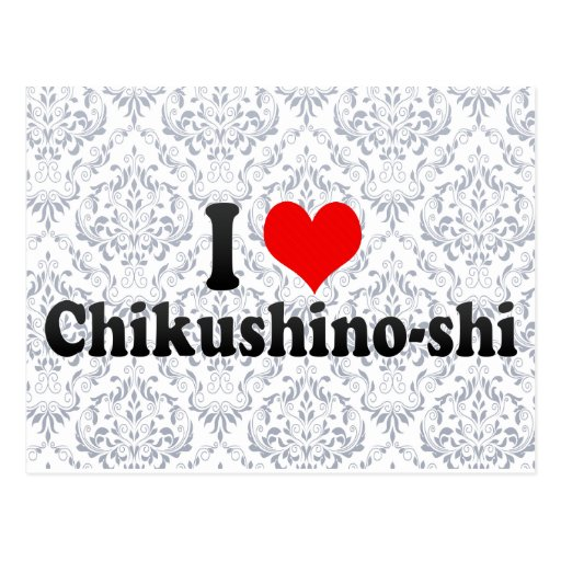 I Love Chikushino-shi, Japan Postcard