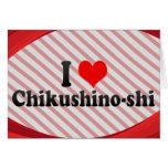 I Love Chikushino-shi, Japan Stationery Note Card