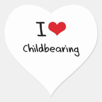 I love Childbearing Heart Sticker