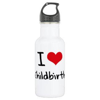 I love Childbirth 18oz Water Bottle