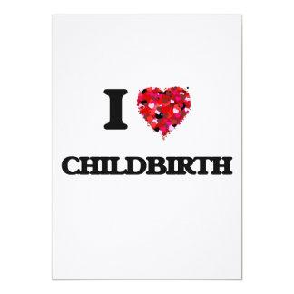I love Childbirth 5x7 Paper Invitation Card