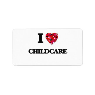 I love Childcare Address Label