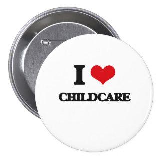 I love Childcare Pinback Button