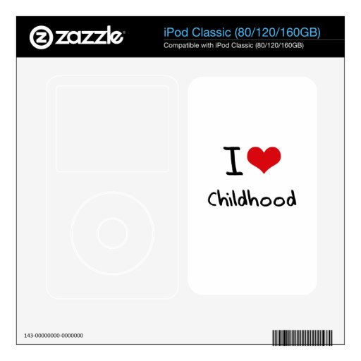 I love Childhood Decals For iPod