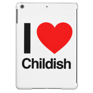 i love childish cover for iPad air