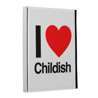 i love childish iPad folio covers