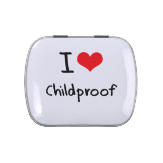 I love Childproof Candy Tins