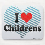 I Love Childrens Mouse Pad