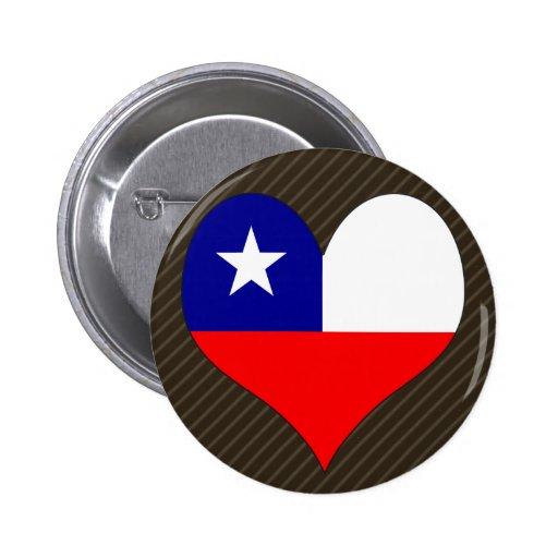I Love Chile 2 Inch Round Button