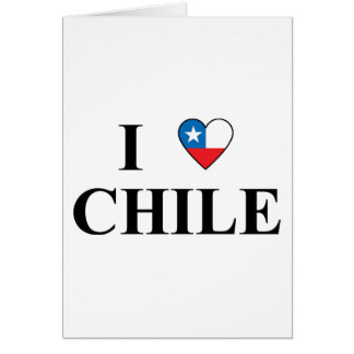 I Love Chile Card