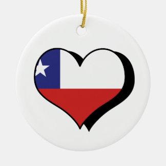 I Love Chile Ornament