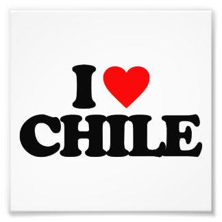 I LOVE CHILE PHOTO PRINT